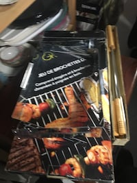 grill pro deluxe shish kebab set  Used but very clean Box is a bit broken  Good condition
