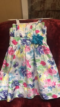 white, blue, and pink floral sleeveless dress Deer Park, 77536