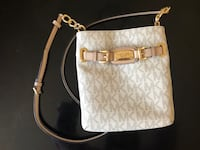 White and brown michael kors leather crossbody bag Silver Spring, 20902