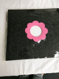 black and pink floral textile Magnolia, 21085