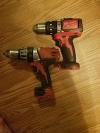 2 used hammer drills. 1 brushed
