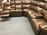 Brand New Brown leather home theater couch Calgary, T3K