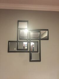 black wooden framed wall mount collage mirrors Manassas, 20109