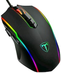 PICTEK Gaming Mouse Wired, 8 Programmable Buttons, Chroma RGB Backlit,