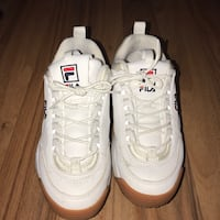 Fila Shoes/Disruptor 2 in color white and brown Toronto, M1C 3Z2