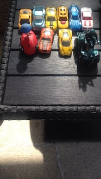 Toddler's assorted colors of toy cars