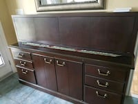 brown wooden cabinet credenza with drawers shelves Vaughan, L4H 1T9