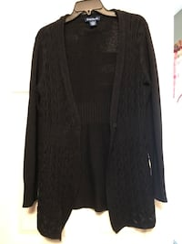 Black long-sleeved cardigan