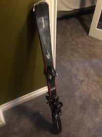 Techno pro youth skiis and binding 110cm