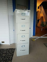 grey 4 drawer file cabinet