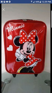Disney Parks Minnie Mouse Small Rolling Suitcase  Plantation, 33325