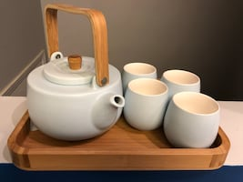 David's Tea - Light Blue Tea Set