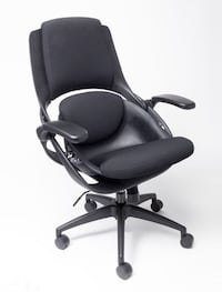 New in Box BACKSTRONG C1 - FABRIC Black Frame with Black Upholstery
