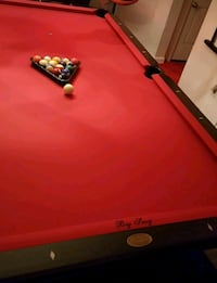 red and black pool table Capitol Heights, 20743