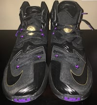 pair of black-and-purple Nike basketball shoes Antelope, 95843