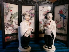 Japanese antique toothbrush holders
