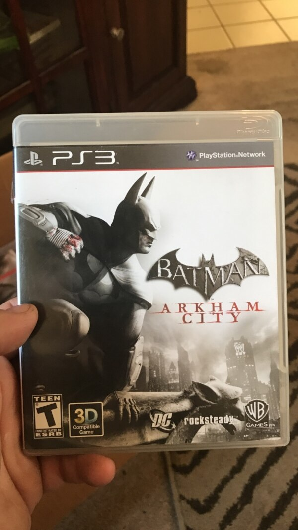 Sony ps3 batman arkham city game