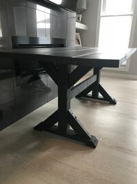 Carbon Grey Trestle Dining Table