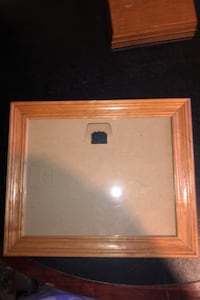 Three 8 x 11 wood picture frames