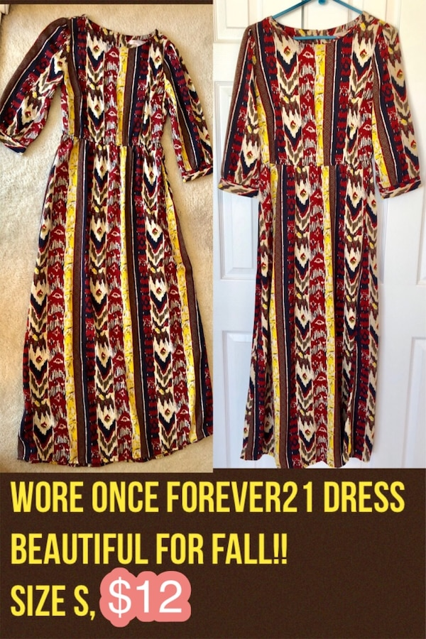 Beautiful Forever21 maxi dress! Like New! Size S