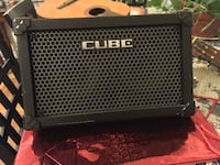 Roland Cube Street Battery Powered Stereo Guitar Combo Amp, Black