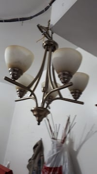 Expensive brass lamp fixture and white uplight chandelier Brampton, L6R 1W2