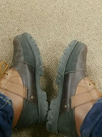 pair of black-and-brown work boots West Des Moines, 50265