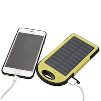 Solar Power Bank Phone Charger with LED Light. Brampton, L6Z 2A1