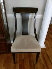 brown wooden framed white padded chair Silver Spring, 20905