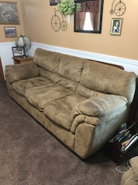 Brown suede 3-seat sofa Perry, 66073