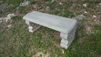 Concrete bench with sit two persons