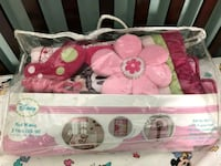 pink and white floral   Minnie  crib set 6 pieces Manassas, 20109
