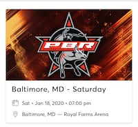 Two tickets for the PBR Bull Riding tonight!! Baltimore, 21202