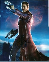 Signed in person. Chris Pratt Guardians of the Gal Douglas County