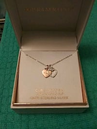 18KT ROSE GOLD OVER STERLING SILVER - MOM - DOUBLE HEART NECKLACE Edmond, 73013