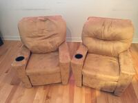 Brown suede home theater sofa for kids Laval, H7P 0B9