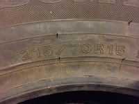 "Sumitomo Studdable ""ice edge"" winter tire  215/70/15 Wilmington, 01887"