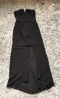 BLACK HIGH-LOW DRESS (SIZE S) IDEAL FOR BRIDAL/HOCO/SEMIFORMAL/PROM