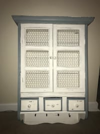 White and blue cabinet with drawers and hooks Simi Valley, 93063