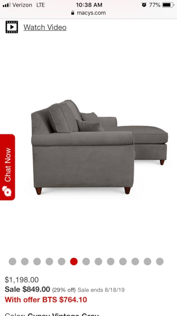 Fabulous Lidia 82 Fabric 2 Pc Reversible Chaise Sectional Sofa With Storage Ottoman Created For Macys Gmtry Best Dining Table And Chair Ideas Images Gmtryco