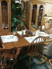 Table, 4 chairs.  2 china closets  decorative tree Spartanburg, 29303