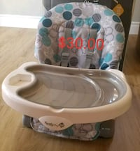 baby's white and blue safety 1st recline and Grow Brantford