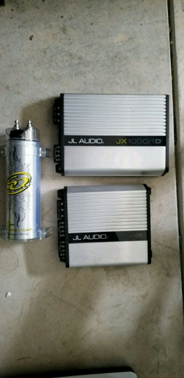 JL Audio Amplifiers and Battery Capacitor