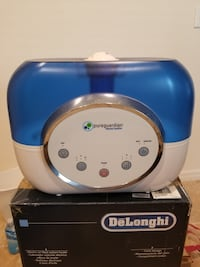 blue and white Pureguardian humidifier