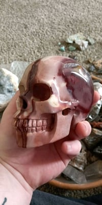 "Large Mookaite 5"" Skull Carving Healing Crystal Gainesville, 20155"