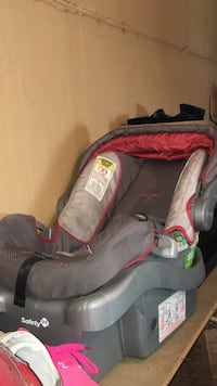 Baby's gray and red car seat carrier Edmonton, T5Z 2S3