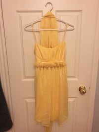 Yellow cocktail dress with scarf, Size S Markham, L6B 0L8
