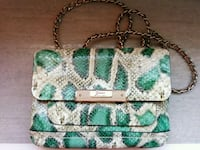 GUESS Green Snakeprint Crossbody Bag