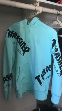 Blue and black thrasher/huff hoodie (negotiable) Coquitlam, V3C