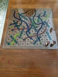 Snakes and Ladders on a glass sheet,no dice